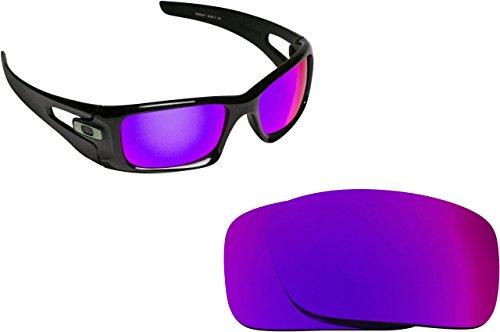 Best SEEK OPTICS Replacement Lenses Oakley CRANKCASE - Polarized Purple - Crankcase Lenses Oakley