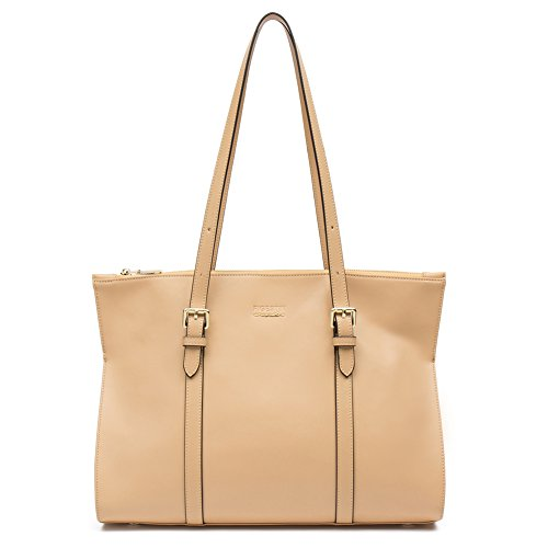 On Clearance - FIGESTIN Women Genuine Leather Designer Handbags Purse Ladies Trapeze Top Handle Tote Satchel Shoulder Crossbody Bags