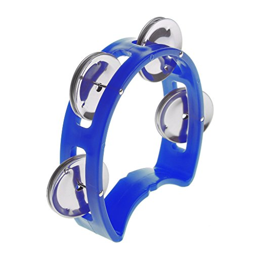 Kocome Percussion Half Moon Jingles Handheld Musical Tambourine Drum Party Gift Toy