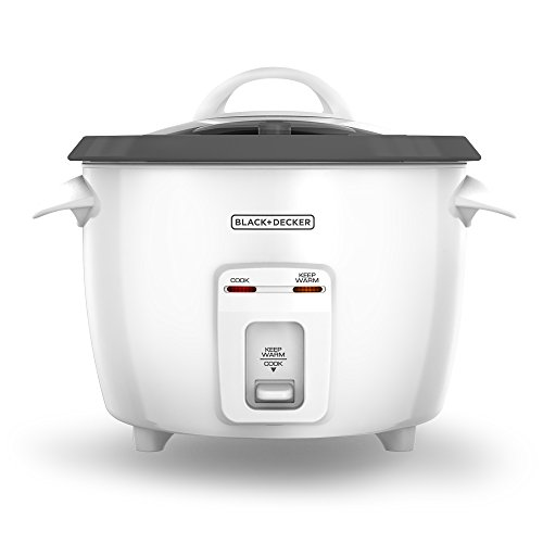 Black & Decker 14-Cup (cooked) Rice Cooker, White (holds 8 cups dry rice) image