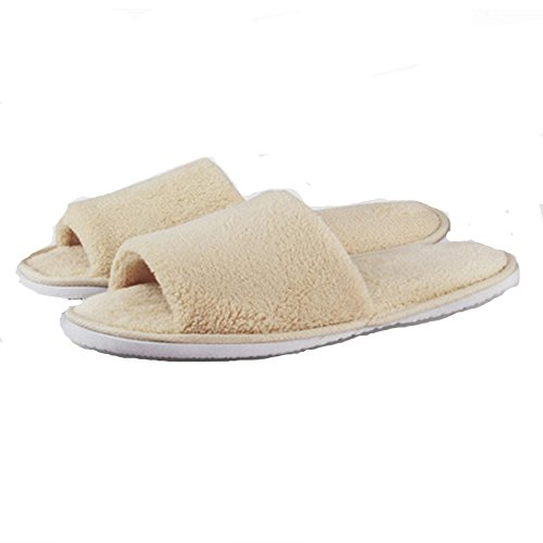 for Open House Men slippers Toe Women Beige Terry Slipper x6qvp4qUX