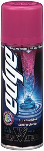 Edge Shave Gel, Extra Protection, 7-Ounce Cans (Pack of 6) by Edge