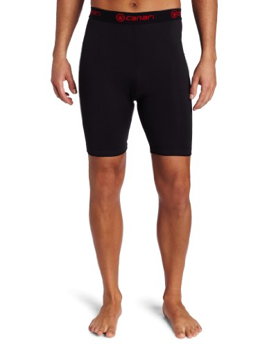 Canari Cyclewear Men's M Gel Cycle Liner Padded Cycling Short (Black, Large)