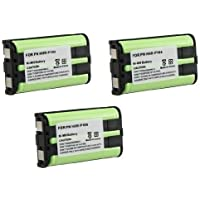 3 Pack - Cordless Phone Battery for Panasonic HHR-P104 (Lifetime Warranty, Bulk Packaging)