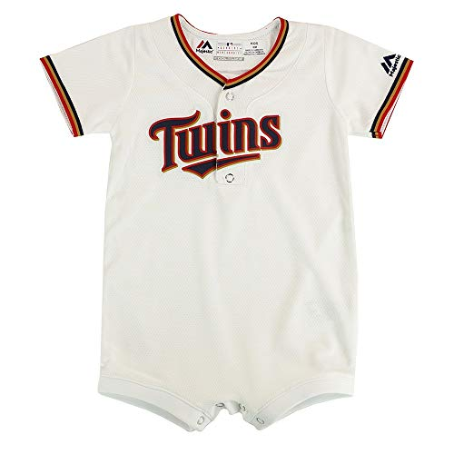 Outerstuff Minnesota Twins MLB Majestic Infant White Cool Base Home Replica Jersey Creeper