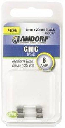 Jandorf 60732 s506 glass tube fuse, 2 amp