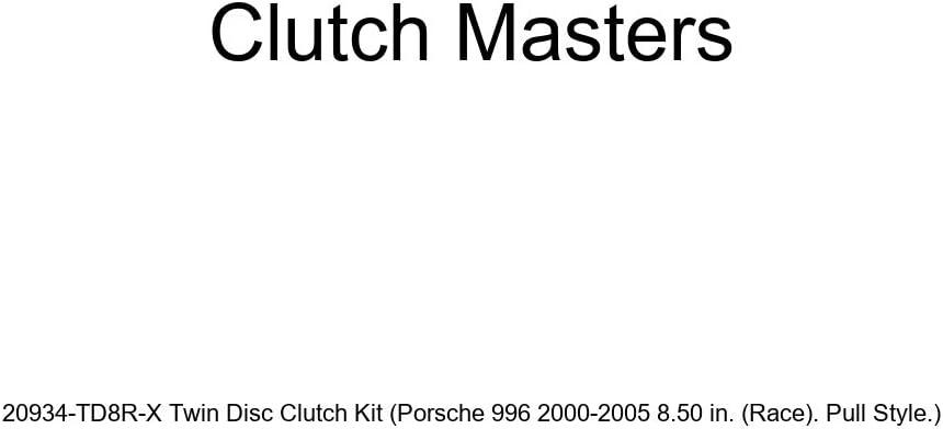 Race . Pull Style. Porsche 996 2000-2005 8.50 in. Clutch Masters 20934-TD8R-X Twin Disc Clutch Kit