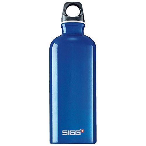Sigg Traveler Classic Water Bottle (1.0-Liters, Reflex Blue)