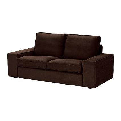 KIVIK Loveseat cover - Tullinge dark brown - IKEA