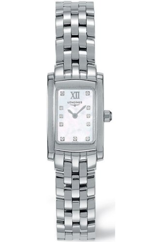 Stainless Steel Mop Watch - Longines Dolce Vita Ladies Stainless Steel Mop Diamond Watch L5.158.4.84.6