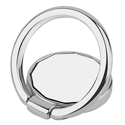 Price comparison product image Mirror Ring Stand Holder, SUPTMAX Metal Finger Grip Phone Stand Holder Ring [Universal 360 Degree] for Smartphones [Mirror] Ring Holder Fit for Magnetic Car Mount (Silver)
