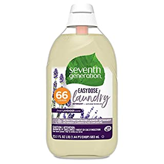 Seventh Generation Laundry Detergent, Ultra Concentrated EasyDose, Fresh Lavender, 132 Loads (Packaging May Vary), 23 Fl Oz (Pack of 2)