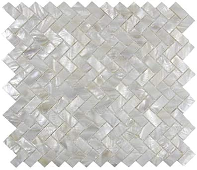 Amazon Com Vogue Tile Genuine Mother Of Pearl Oyster Herringbone