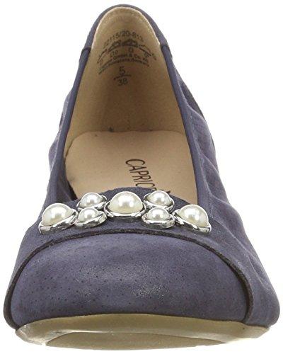 Caprice Ladies 22115 Ballerine Chiuse Blu (navy Pearl Com 813)