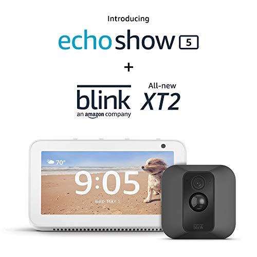 Echo Show 5 (Sandstone) with Blink XT2 Outdoor/Indoor Smart Security Camera
