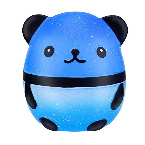 Adorable Galaxy Panda Toy, TOTGO Cute Adorable Squishies Galaxy Panda Fruit Scented Slow Rising Squeeze Stress Relief Toys Collect Easter Toys Gifts for More Than 6 Years Old Kids Boys Girls (Blue)