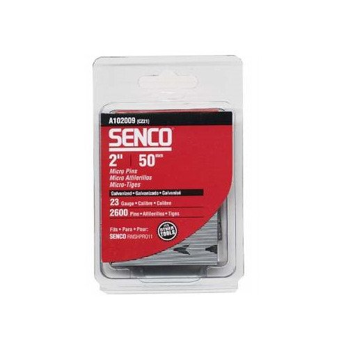 SENCO A102009 23-Gauge 2 in. Electro-Galvanized Headless Micro Pins (2,600-Pack)