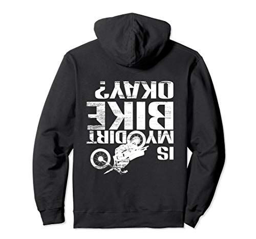 Sleeve Long Dirt Funny - Motorcross Off Road Hoodie Is My Dirt Bike Okay? Funny Gift