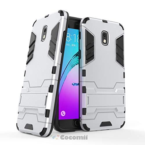 (Cocomii Iron Man Armor Galaxy J7 2018/J7 V/J7 Star/J7 Refine Case New [Heavy Duty] Tactical Grip Kickstand Shockproof Bumper [Military Defender] Full Body Cover for Samsung Galaxy J7 2018 (I.Silver))