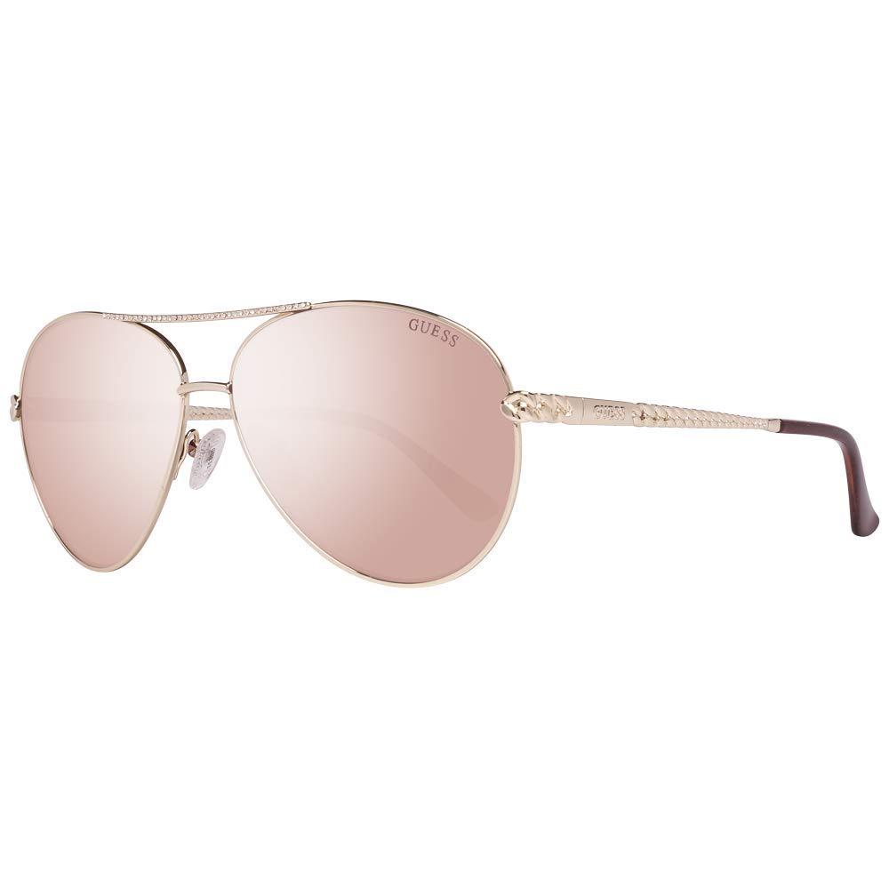 Guess GU7470 32F 60 Monturas de gafas, Dorado (Oro\\Marrone Grad), 60.0 Unisex Adulto