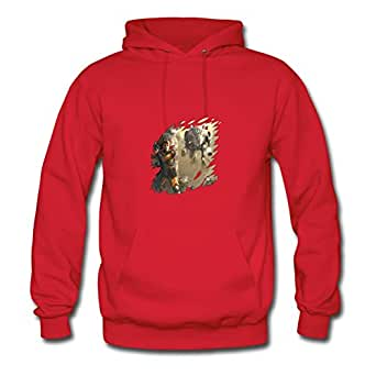 Mech Designed Regular : X-large Womenhoody Red- Made In Good Quality.