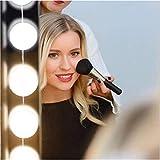 Glückluz Luces de Espejo de Maquillaje Espejo con Luz para Makeup con 10 Bombillas LED USB para Tocador Iluminado Mesa de Dormitorio de Espejo Accesorios de Iluminación de Bricolaje (Blanco)
