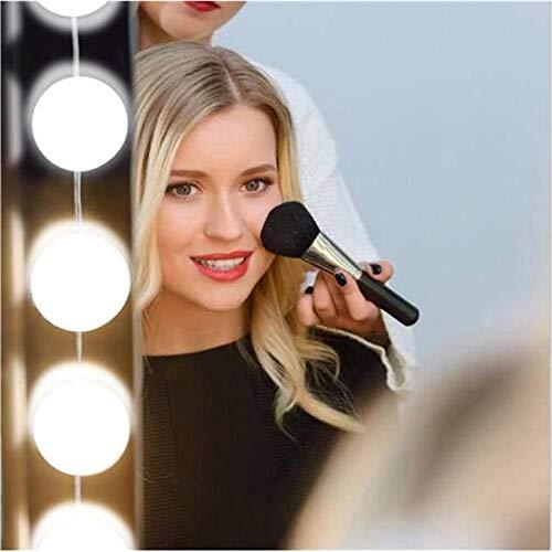 Glückluz Luces de Espejo de Maquillaje Espejo con Luz para Makeup con 10 Bombillas LED USB para Tocador Iluminado Mesa de...