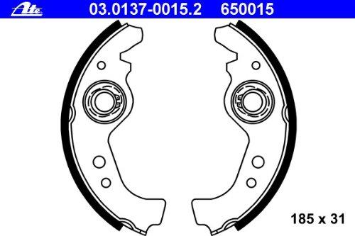 ATE 03013700152 Set ganasce freno a tamburo Continental AG 03.0137-0015.2 95301875