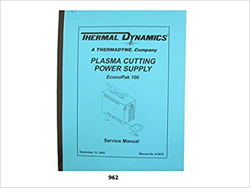 Thermal Dynamics Econopak 100 Plasma Cutter Service Manual Thermal
