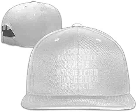 I Dont Tell People Where I Fish Snapback Adjustable Sports Hats Black f66b5de5691a