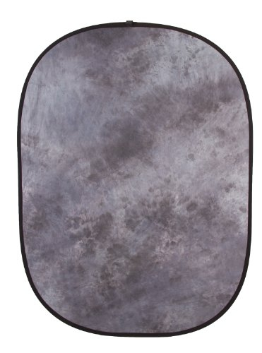 Fovitec - 1x 5'x6.5' Gray Tie-Dye Double-Sided Pop-Out Muslin Backdrop - [Collapsible Background][Matte Finish][Bag Included][Spring Loop Design]