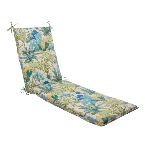 Pillow Perfect Indoor/Outdoor Splish Splash Chaise Lounge Cushion, Blue (Blue Outdoor Chaise Cushions compare prices)