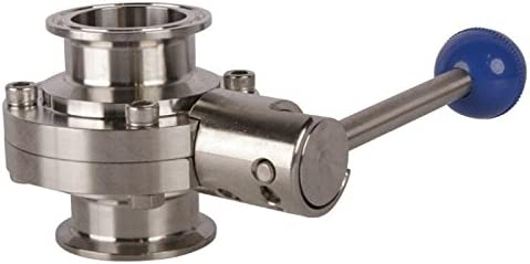 Butterfly Valve Tri Clamp 1.5 inch Pull Handle 3 Pack Stainless Steel SS304 // EPDM Glacier Tanks -