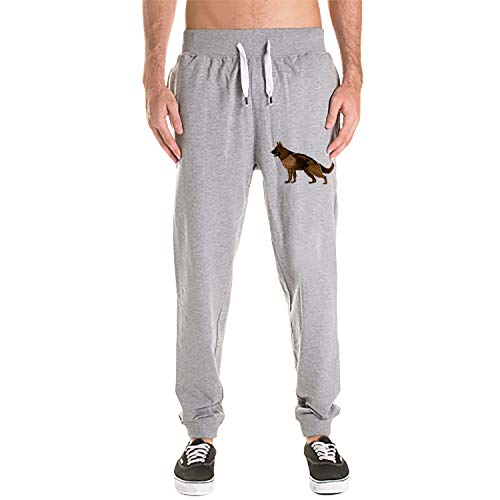 XSDSD Black Sweat Pants with German Shepherd Print