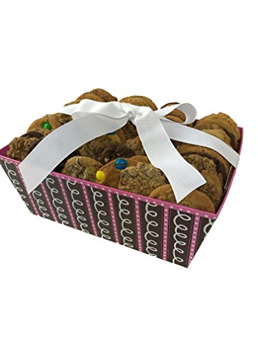 "Cookies From Home ""Chocolate Swirls Tray"" - Freshly Hand Baked Gourmet Cookies and Brownies Gift Set -30 Cookies 