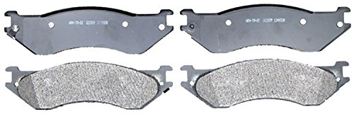 ACDelco 14D702AM Advantage Semi-Metallic Rear Disc Brake Pad Set with Wear Sensor