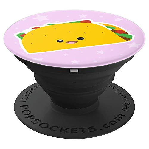 Cute Kawaii Taco Girly Pink Pop Socket Funny Gift for Girl - PopSockets Grip and Stand for Phones and Tablets