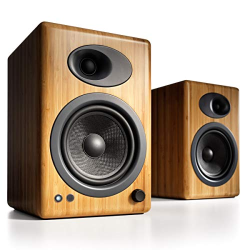 Audioengine A5+ - Bocinas (Universal, Tabletop/bookshelf, Built-in, 50-22000, 0.05, Rotary) Wood