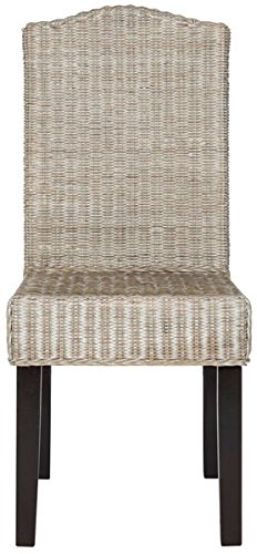 - Safavieh Home Collection Odette Antique Grey Wicker Dining Chair (Set of 2), 19