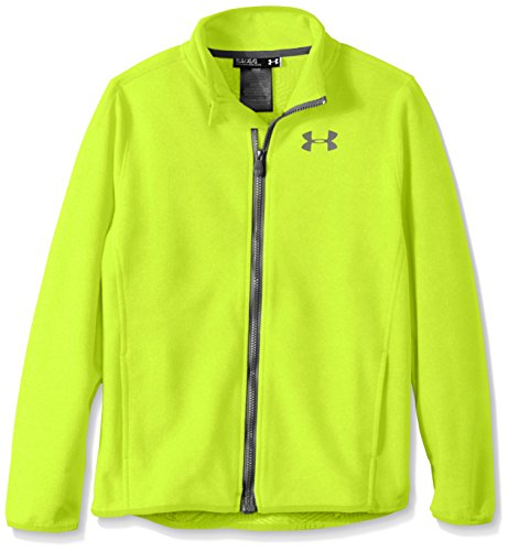 Under Armour Boys' ColdGear Infrared Performance Fleece Jacket, High-Vis Yellow/Graphite, Youth X-Large