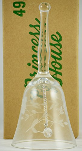 - 1984 - Princess House Inc - Handblown Crystal Bell - 6 Inches Tall - OOP - Very Rare - Highly Collectible