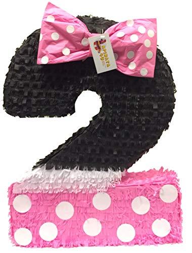 APINATA4U Pink & Black Number Two Pinata -