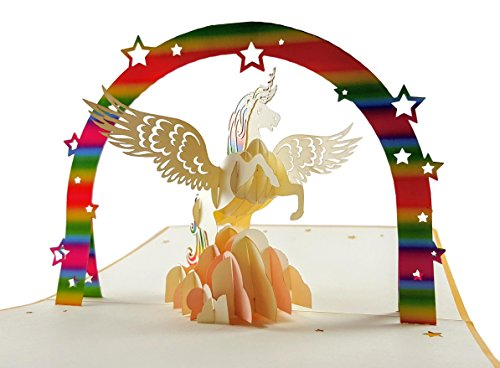 IGifts And Cards Friendly Unicorn 3D Pop Up Greeting Card