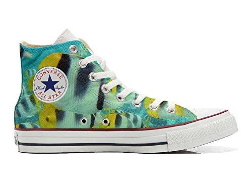 bunte All Converse Star personalisierte Customized Handwerk Fische Hi Schuhe Schuhe SAAdq8rx