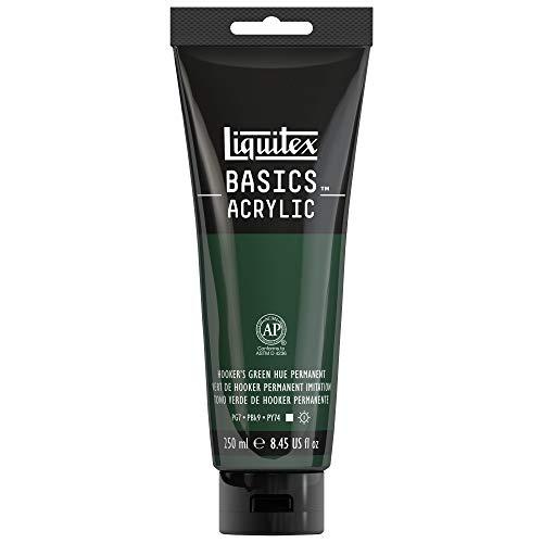 Liquitex BASICS Acrylic Paint 8.45-oz tube, Hooker's Green Hue Permanent