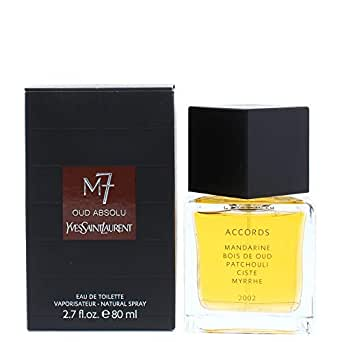 YSL M-7 Oud Absolu Eau de Toilette Spray for Men, 2.7 Ounce