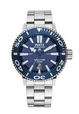 Watx scafandro reloj para Hombre Analógico de Cuarzo con brazalete de Acero inoxidable RWA0312: Amazon.es: Relojes