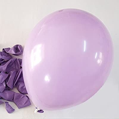 "C-Spin - 25 pcs 12"" Balloons 12 Inches Thickness Latex Balloon For Party Wedding Christmas New Year Birthday Cinco de Mayo Party Bridal Baby Shower Decoration Supplies (Lavender): Office Products"