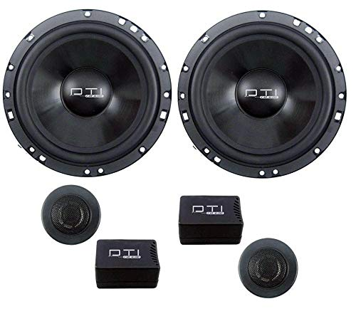 "DTI Audio 6.5"" 440W Peak High Power 2-Way 4 ohm Impedance Car Audio Component Speaker System, one size (DTIDS66CK)"