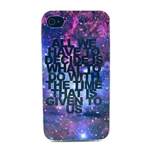 SHOUJIKE Growing Star Space with Letter Pattern TPU Soft Case for iPhone 4/4S